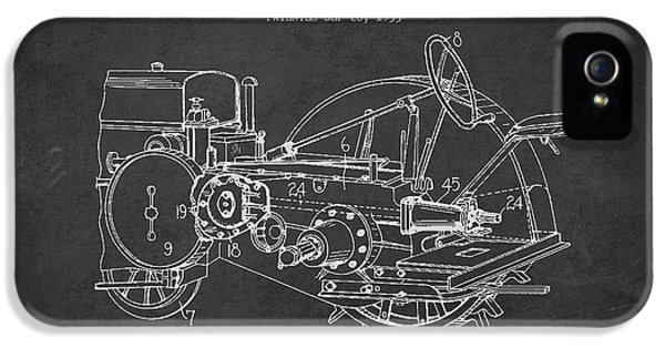 Equipment iPhone 5 Cases - John Deer Tractor Patent drawing from 1933 iPhone 5 Case by Aged Pixel