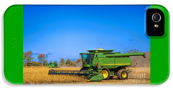 Farmland iPhone 5 Cases - John Deere 9770 iPhone 5 Case by Olivier Le Queinec