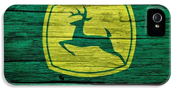 John Deere Barn Door IPhone 5 / 5s Case by Dan Sproul