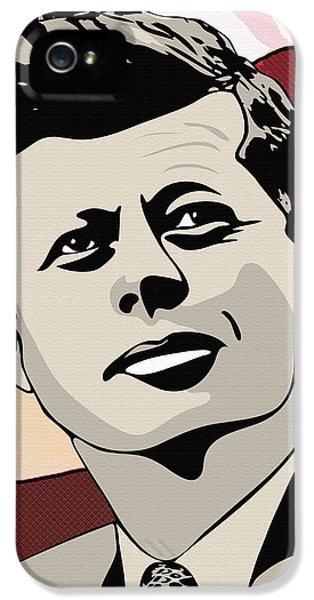 Ignacio iPhone 5 Cases - John F. Kennedy 1st Irish Catholic President  iPhone 5 Case by Dancin Artworks