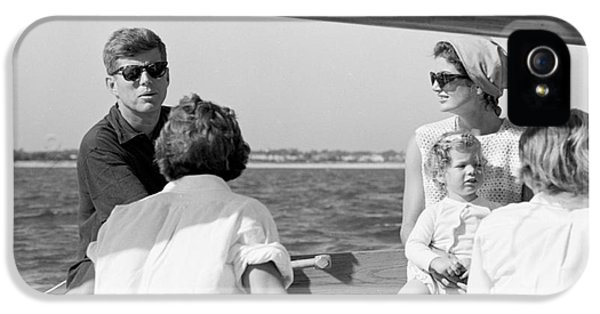 First Lady iPhone 5 Cases - John F. Kennedy and Jacqueline sailing off Hyannis Port iPhone 5 Case by The Phillip Harrington Collection