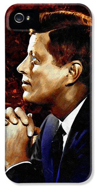 Ignacio iPhone 5 Cases - John F. Kennedy iPhone 5 Case by Dancin Artworks