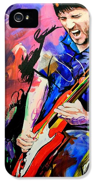 Music Legend iPhone 5 Cases - John Frusciante iPhone 5 Case by Richard Day