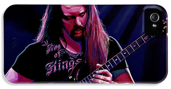Composer iPhone 5 Cases - John Petrucci iPhone 5 Case by Paul Meijering