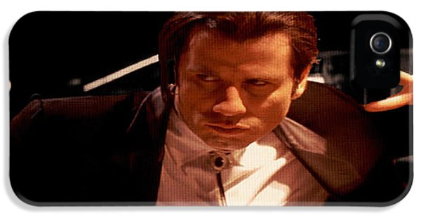 Harvey Keitel iPhone 5 Cases - John Travolta in Pulp Fiction iPhone 5 Case by Brian Reaves