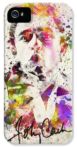 Brother iPhone 5 Cases - Johnny Cash  iPhone 5 Case by Aged Pixel