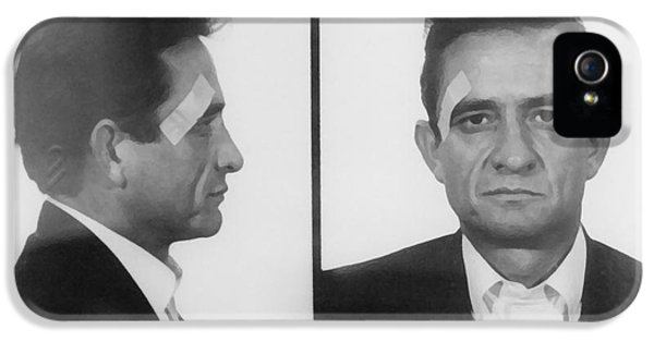 Men In Black iPhone 5 Cases - Johnny Cash Folsom Prison iPhone 5 Case by David Millenheft