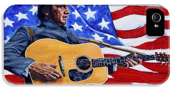 Johnny Cash IPhone 5 / 5s Case by John Lautermilch
