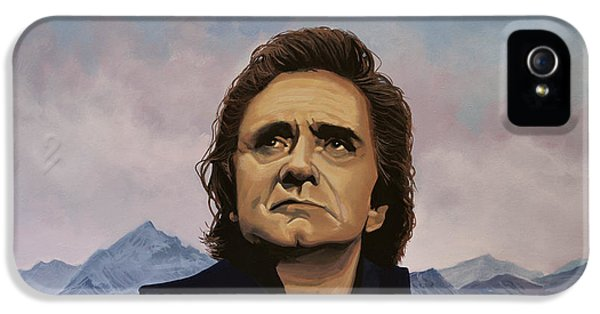 Men In Black iPhone 5 Cases - Johnny Cash iPhone 5 Case by Paul Meijering