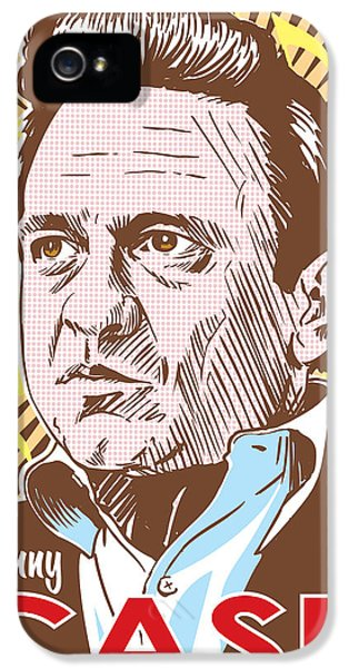 Men In Black iPhone 5 Cases - Johnny Cash Pop Art iPhone 5 Case by Jim Zahniser