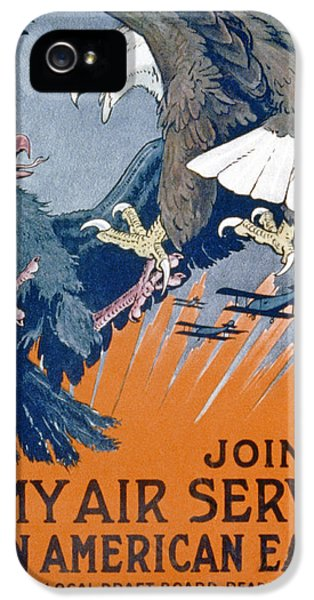 Air Force One iPhone 5 Cases - Join The Army Air Service, Be An iPhone 5 Case by Charles Livingston Bull