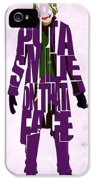 Character iPhone 5 Cases - Joker - Heath Ledger iPhone 5 Case by Ayse Deniz