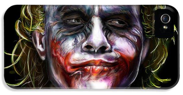Movies iPhone 5 Cases - Joker iPhone 5 Case by Vinny John Usuriello