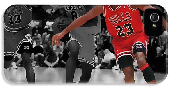 Pippen iPhone 5 Cases - Jordan and Pippen Give me That iPhone 5 Case by Brian Reaves