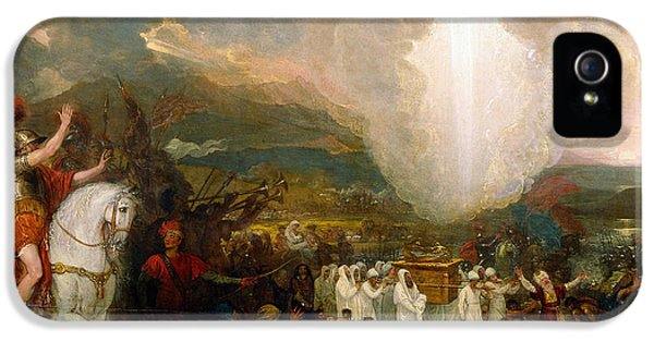 Joshua Passing The River Jordan With The Ark Of The Covenant IPhone 5 / 5s Case by Benjamin West
