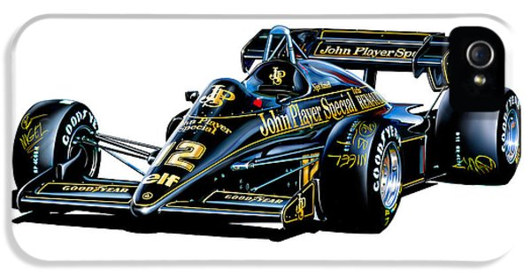 Formula One iPhone 5 Cases - JPS Lotus F-1 Car iPhone 5 Case by David Kyte