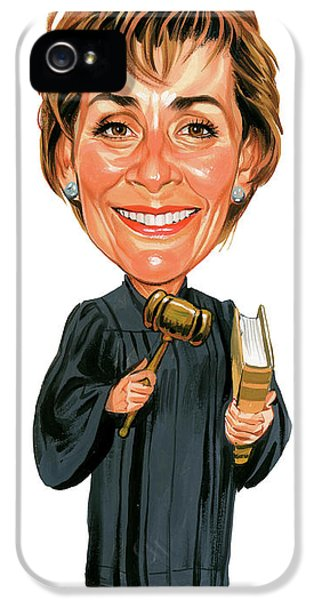 Laughing iPhone 5 Cases - Judith Sheindlin as Judge Judy iPhone 5 Case by Art