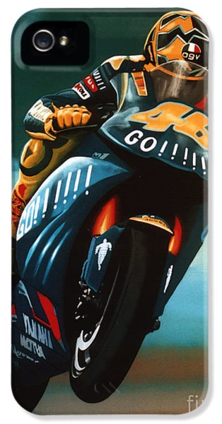 Circuits iPhone 5 Cases - Jumping Valentino Rossi  iPhone 5 Case by Paul  Meijering
