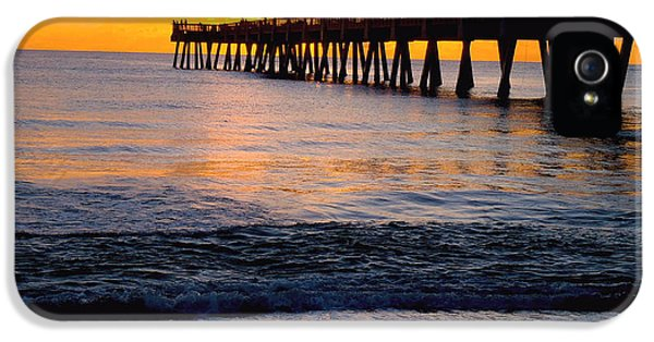 Pier iPhone 5 Cases - Juno Beach pier iPhone 5 Case by Carey Chen
