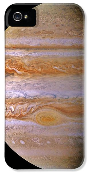 Space iPhone 5 Cases - Jupiter And The Spot iPhone 5 Case by Benjamin Yeager