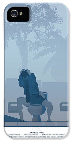 Jurassic Park Poster - Feat. Gennaro IPhone 5 / 5s Case by Peter Cassidy