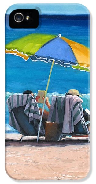 Umbrella iPhone 5 Cases - Just Leave a Message IV iPhone 5 Case by Laura Lee Zanghetti