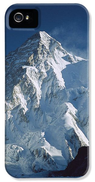 Mountain iPhone 5 Cases - K2 At Dawn Pakistan iPhone 5 Case by Colin Monteath