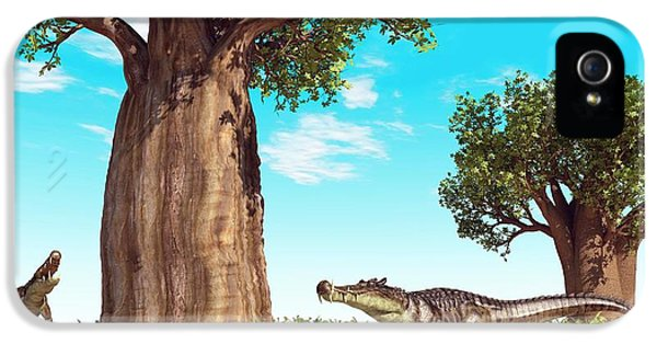Kaprosuchus Prehistoric Crocodiles IPhone 5 / 5s Case by Walter Myers