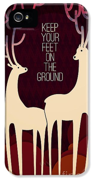 Wise iPhone 5 Cases - Keep your feet on the ground iPhone 5 Case by Budi Satria Kwan
