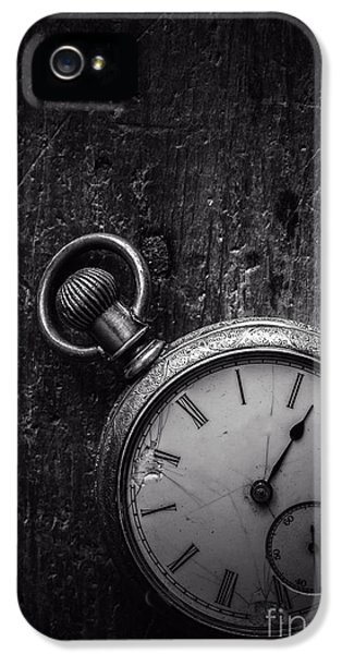 Timepiece iPhone 5 Cases - Keeping Time Black and White iPhone 5 Case by Edward Fielding