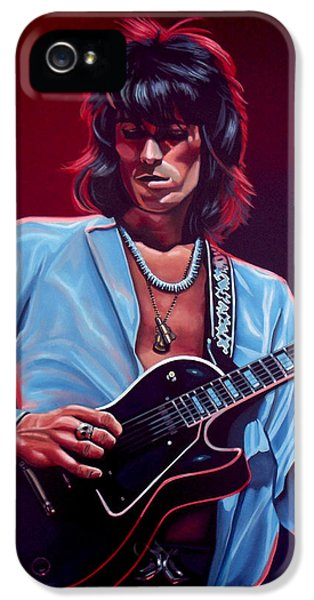 Idols iPhone 5 Cases - Keith Richards 2 iPhone 5 Case by Paul  Meijering