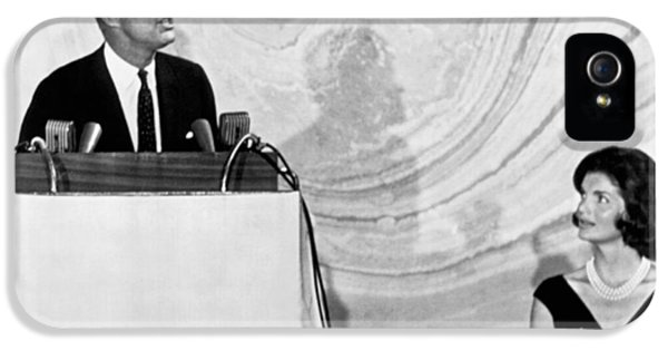 Kennedy Speaks At Fundraiser IPhone 5 / 5s Case by Underwood Archives