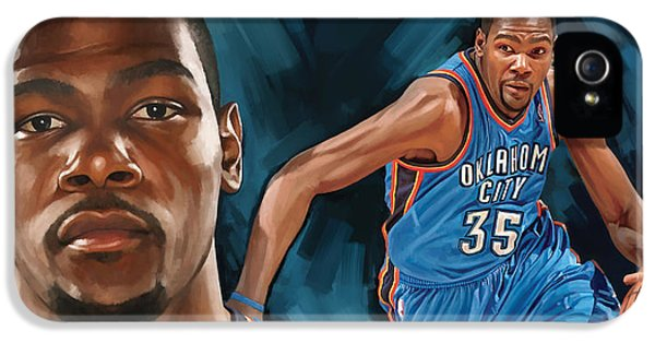 Nba iPhone 5 Cases - Kevin Durant Artwork iPhone 5 Case by Sheraz A