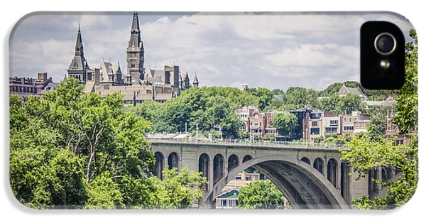 Key Bridge And Georgetown University IPhone 5 / 5s Case by Bradley Clay