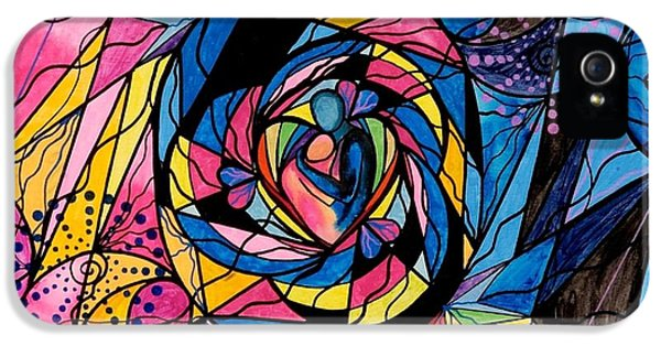 Geometric iPhone 5 Cases - Kindred Soul iPhone 5 Case by Teal Eye  Print Store