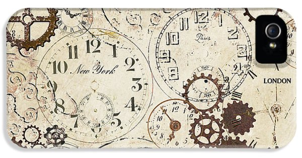 Pieces iPhone 5 Cases - Vintage Clocks iPhone 5 Case by Grace Pullen