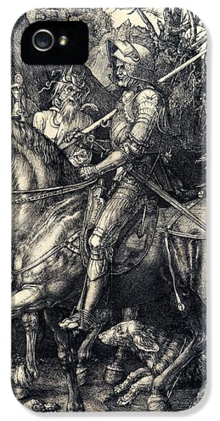 Knight Death And The Devil IPhone 5 / 5s Case by Albrecht Durer