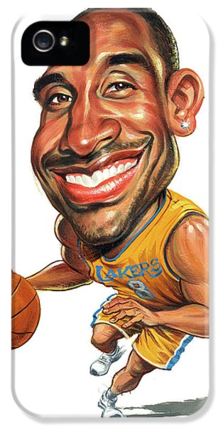 Lakers iPhone 5 Cases - Kobe Bryant iPhone 5 Case by Art