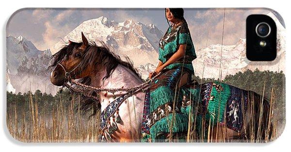 Native American Woman iPhone 5 Cases - Kokopelmana iPhone 5 Case by Daniel Eskridge