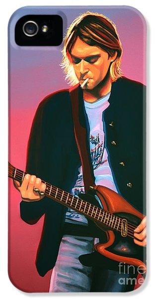 Kurt Cobain iPhone 5 Cases - Kurt Cobain 2 iPhone 5 Case by Paul Meijering