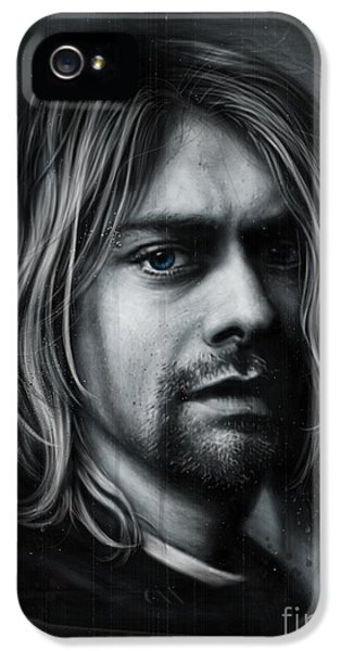 Music Legend iPhone 5 Cases - Kurt Cobain iPhone 5 Case by Andre Koekemoer