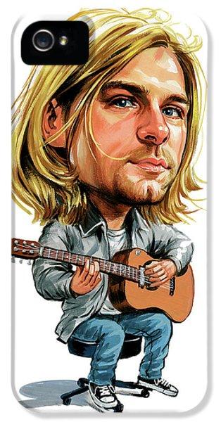 Kurt Cobain iPhone 5 Cases - Kurt Cobain iPhone 5 Case by Art