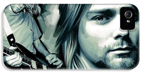 Kurt Cobain iPhone 5 Cases - Kurt Cobain Artwork iPhone 5 Case by Sheraz A