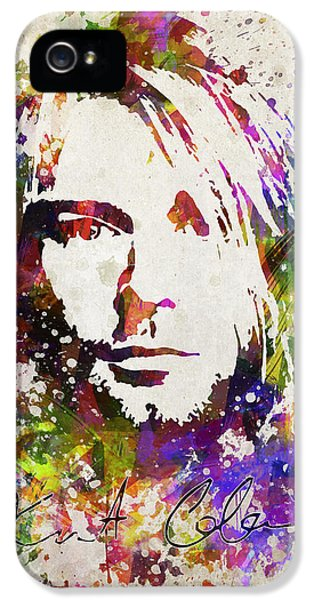 Kurt Cobain iPhone 5 Cases - Kurt Cobain in Color iPhone 5 Case by Aged Pixel