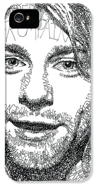 Dave Grohl iPhone 5 Cases - Kurt Cobain iPhone 5 Case by Michael  Volpicelli