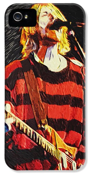Dave Grohl iPhone 5 Cases - Kurt Cobain iPhone 5 Case by Taylan Soyturk