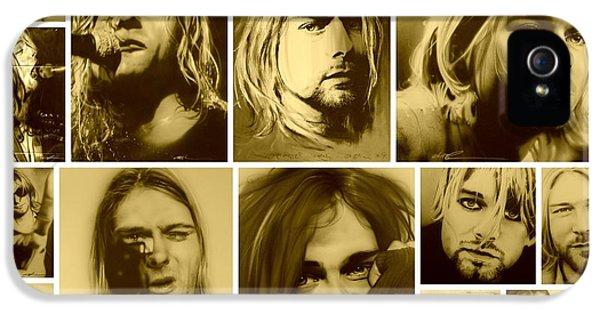 Kurt Cobain iPhone 5 Cases - Kurt Mosaic iPhone 5 Case by Christian Chapman Art