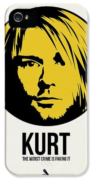 Kurt Cobain iPhone 5 Cases - Kurt Poster 1 iPhone 5 Case by Naxart Studio