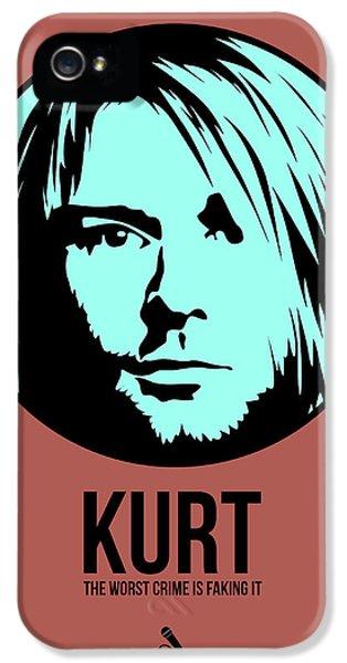 Kurt Cobain iPhone 5 Cases - Kurt Poster 2 iPhone 5 Case by Naxart Studio