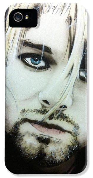 Kurt Cobain iPhone 5 Cases - Kurt V iPhone 5 Case by Christian Chapman Art
